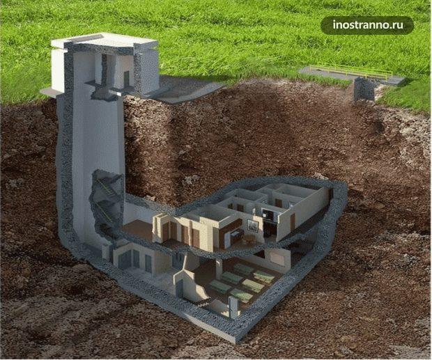 Подземный роскошный бункер unker