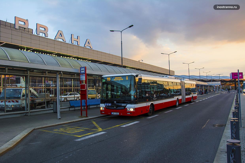Как добраться из аэропорта Праги в центр города на автобусе