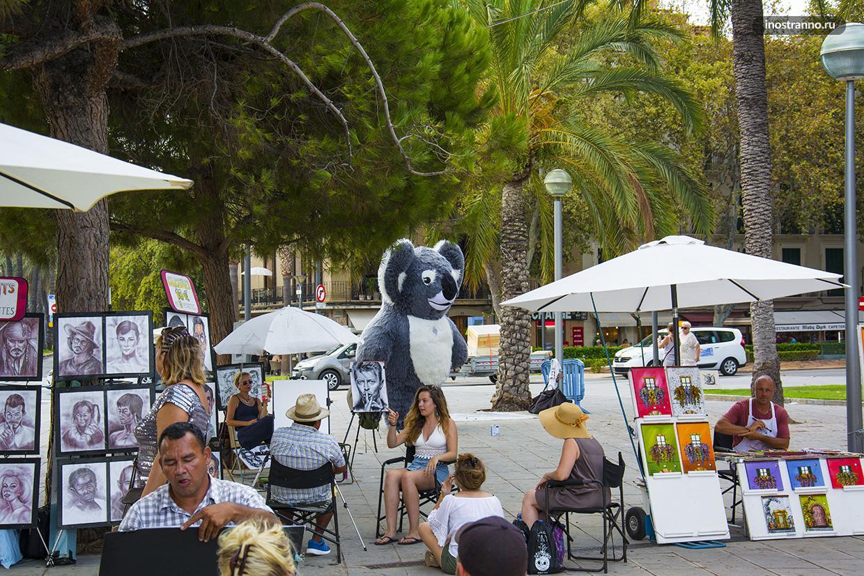 Уличные художники в Пальме