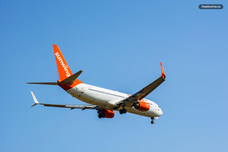 Самолет Sunwing Airlines