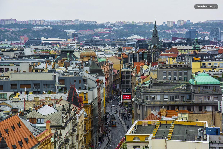 Улица Водичкова в Праге