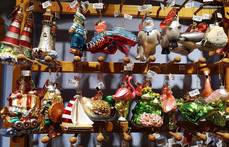 Красивые новогодние игрушки животные