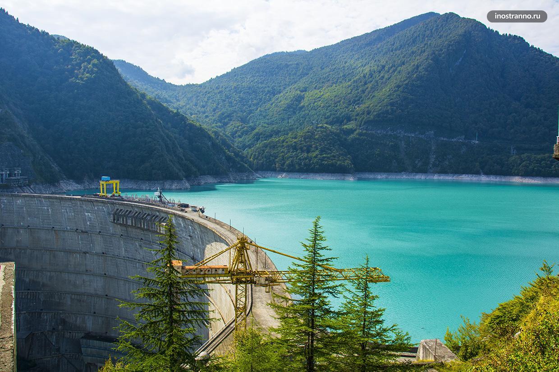 Ингурская ГЭС красивое нетуристическое место в Грузии