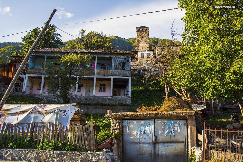Город Местия в Грузии