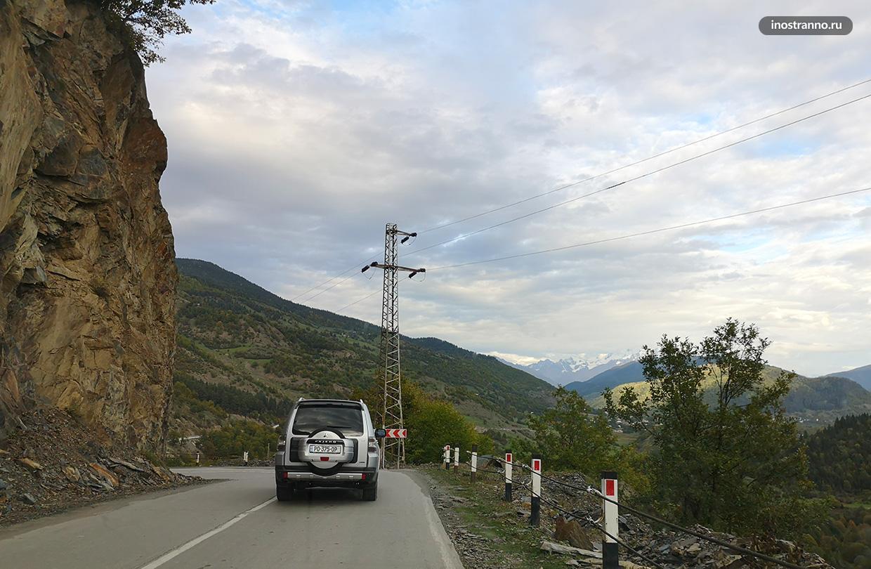 Горная дорога в Грузии, Сванетия, Местия