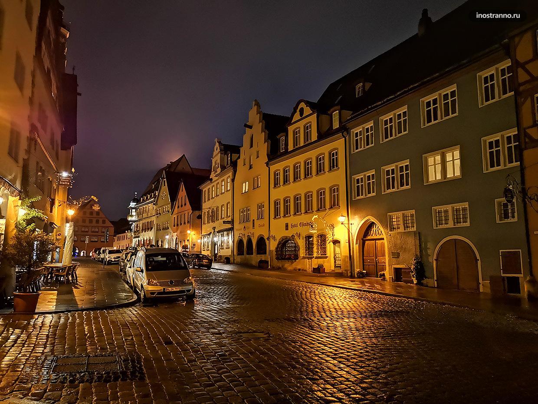 Ротенбург-на-Таубере ночное фото