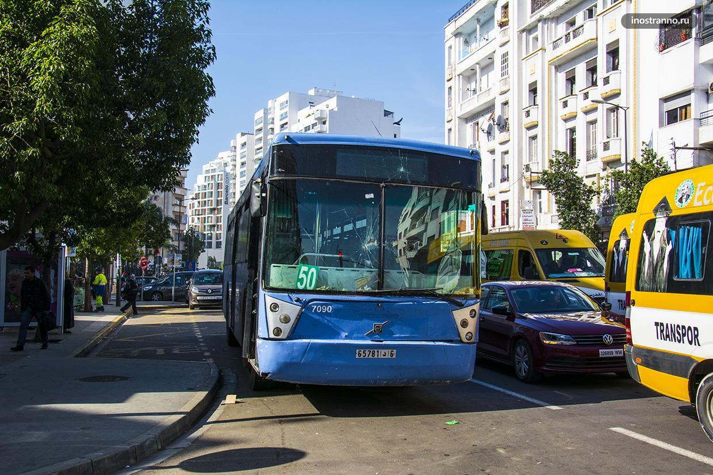 Автобус и общественный транспорт в Касабланке