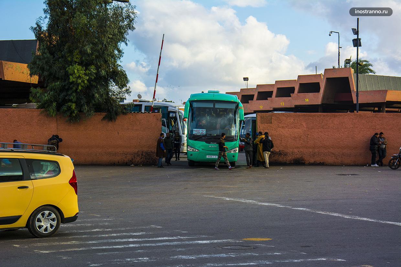 Автовокзал в Марракеше