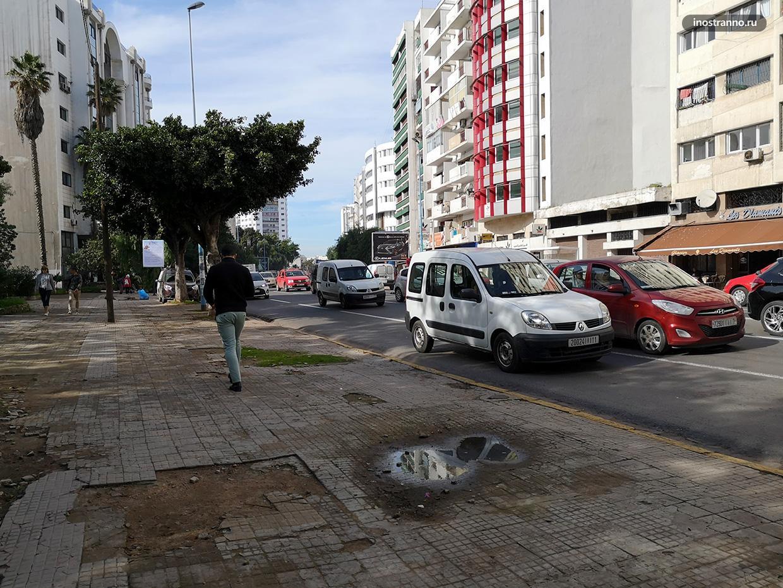 Колоритные улицы в Касабланке