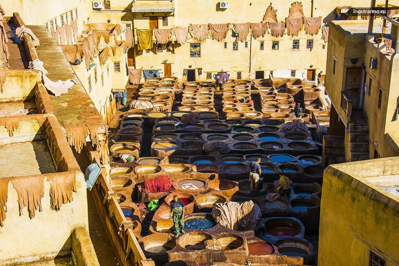 Красильни Феса, Марокко