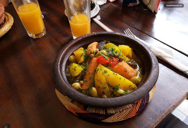 Традиционное марокканское блюдо Тажин