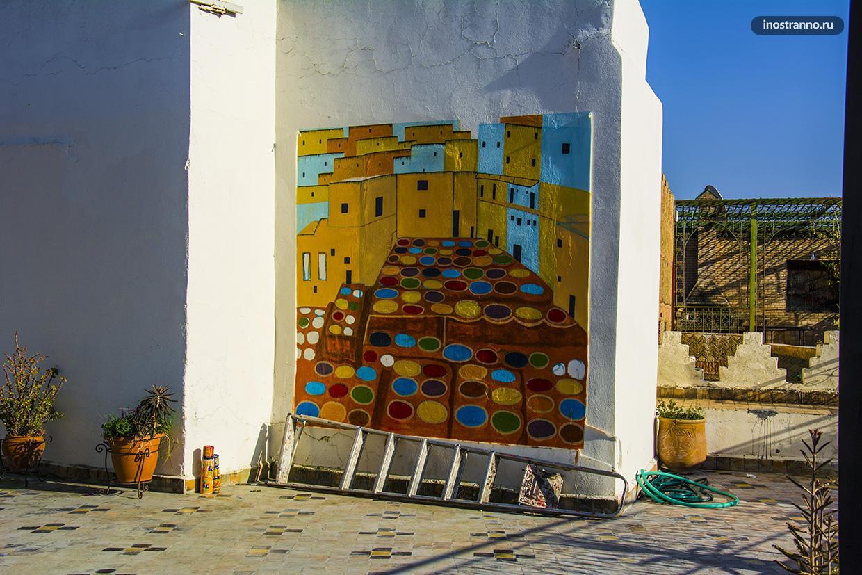 Красильни в Фесе граффити