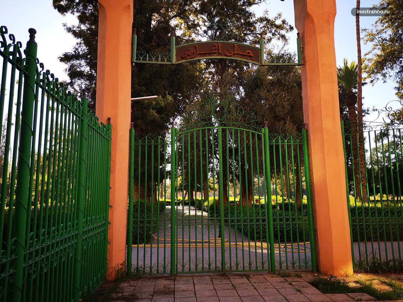 Сад в Марракеше