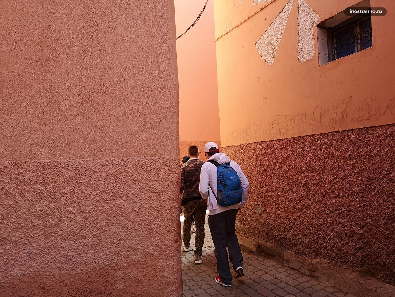 Лабиринты улиц в Марокко