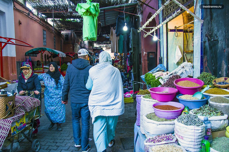 Рынок специй в Марракеше
