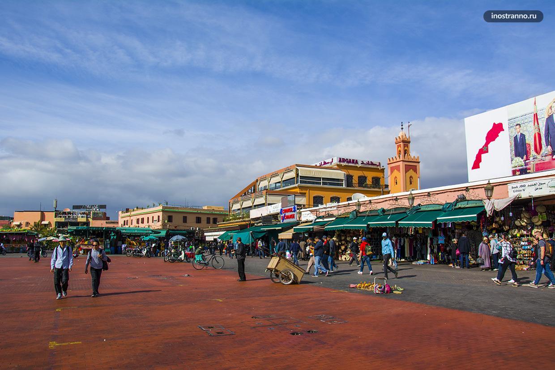Площадь Джема-эль-Фна в Марракеше