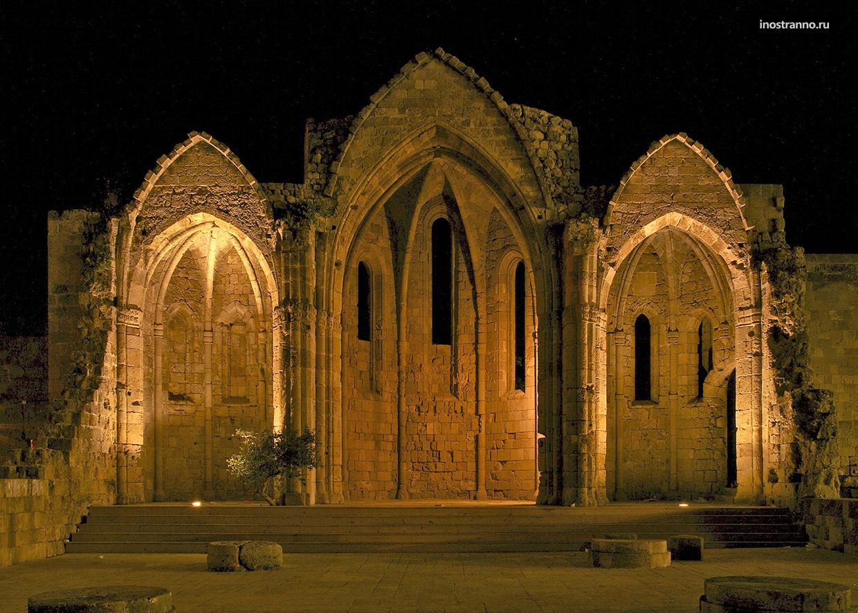 Храм Богоматери Бургоса на Родосе достопримечательность