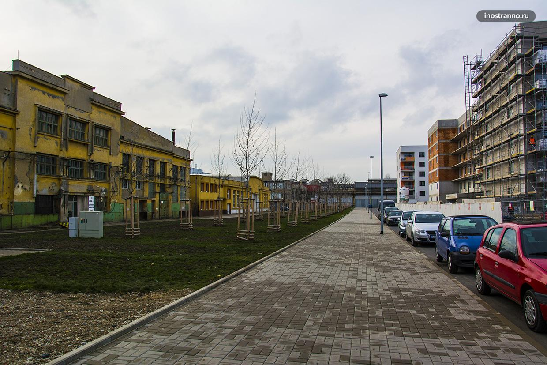 Район новостройки в Праге