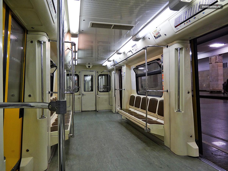 Метро Москвы вагон