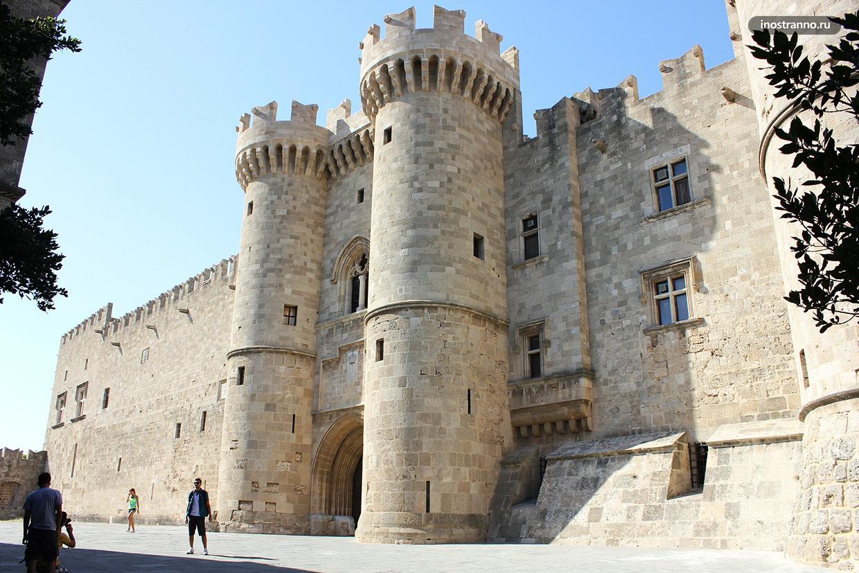 Дворец великих магистров на Родосе замок крепость