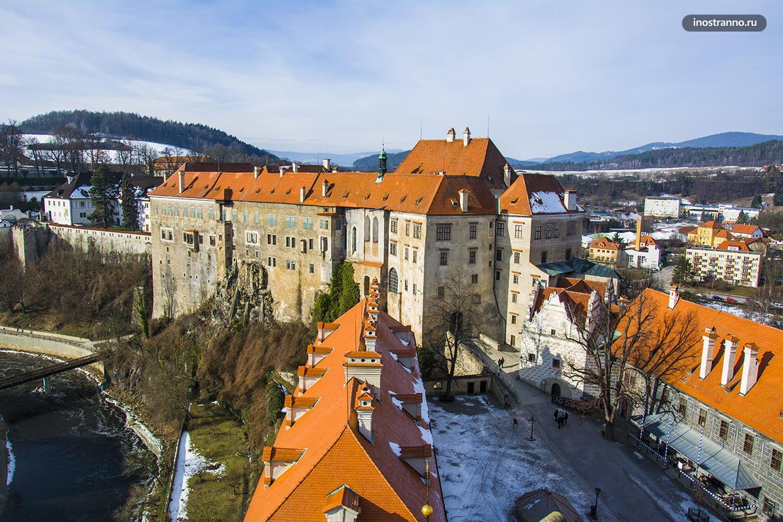 Панорама замка в Чешском Крумлове