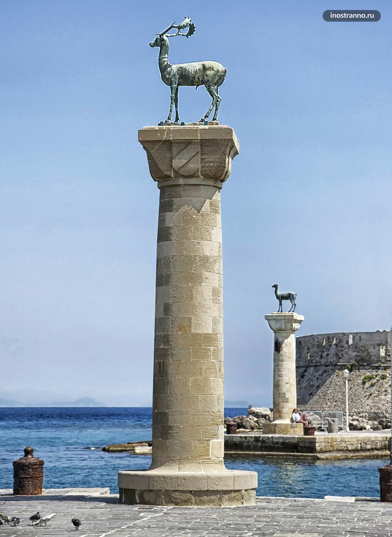 Памятник оленю на Родосе