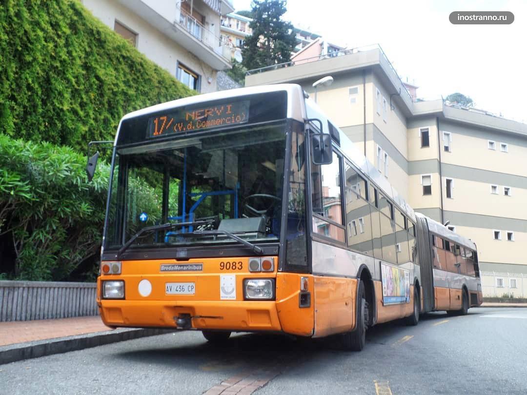 Автобусы на Сардинии
