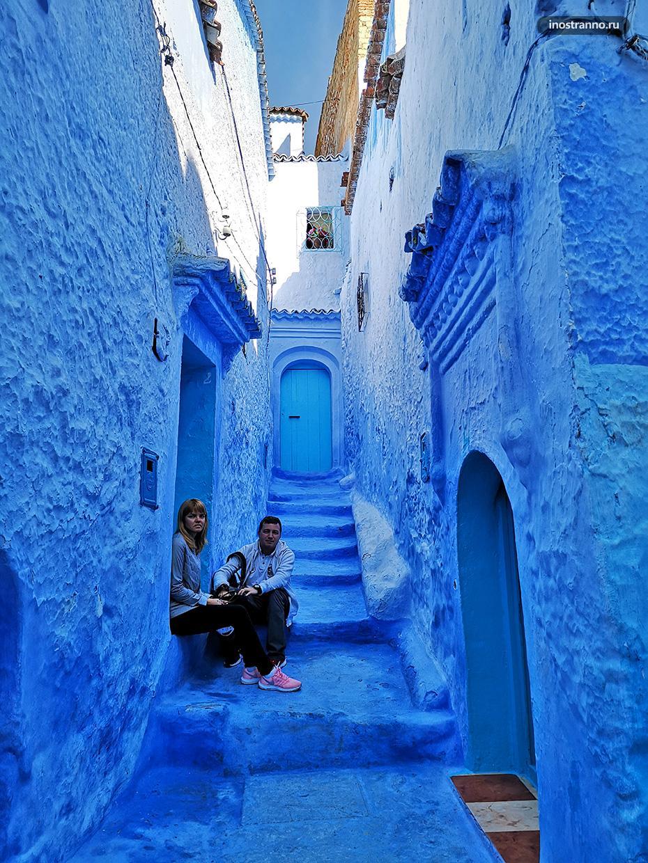 Синий город в Африке