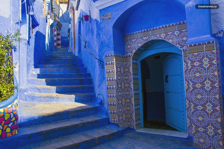 Шефшауэн фото синего города в Марокко