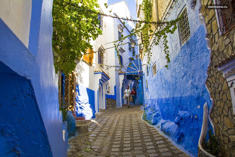 Марокко туристический город Шефшауэн