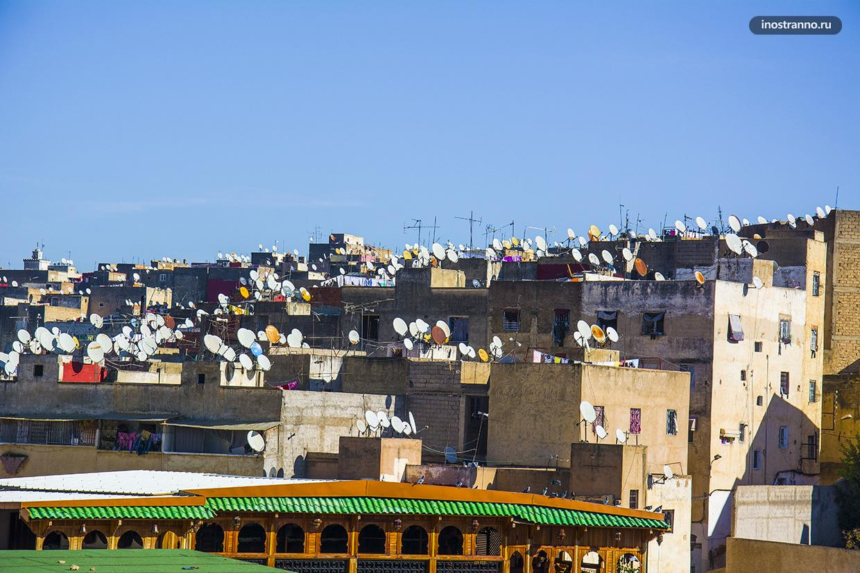 Спутниковые антенны на крыше