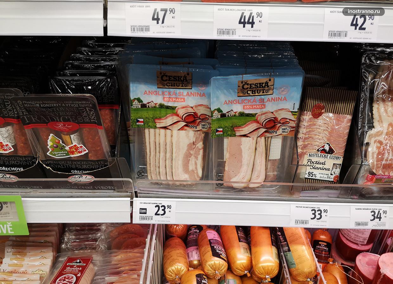 Бекон в пражском супермаркете