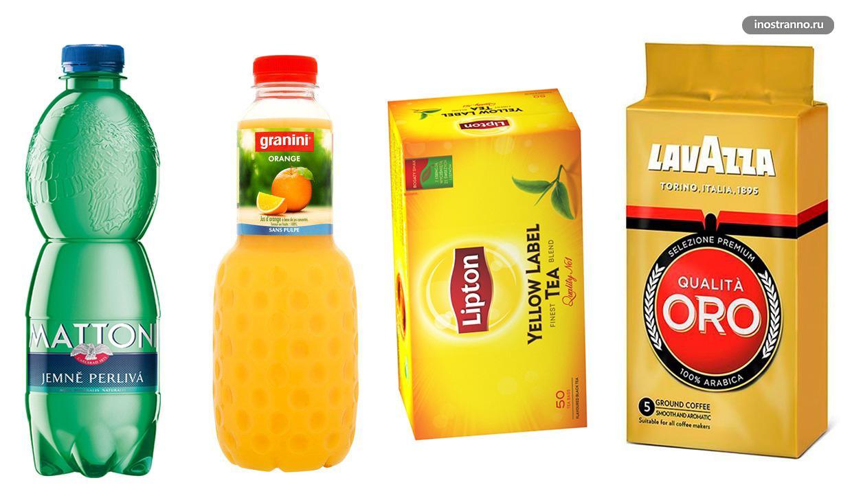 Напитки на завтрак в Чехии