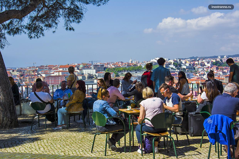София де Мелло Брейнер Андрезен смотровая площадка в Лиссабоне