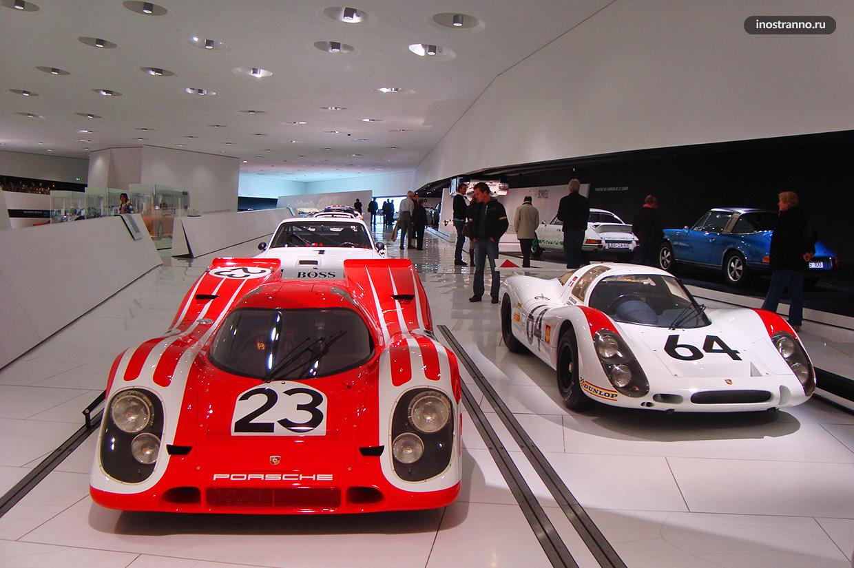 Порше музей в Штутгарте в Германии