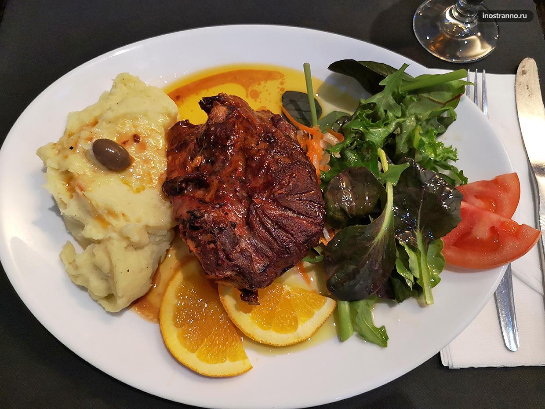 Португальское блюдо дня с мясом