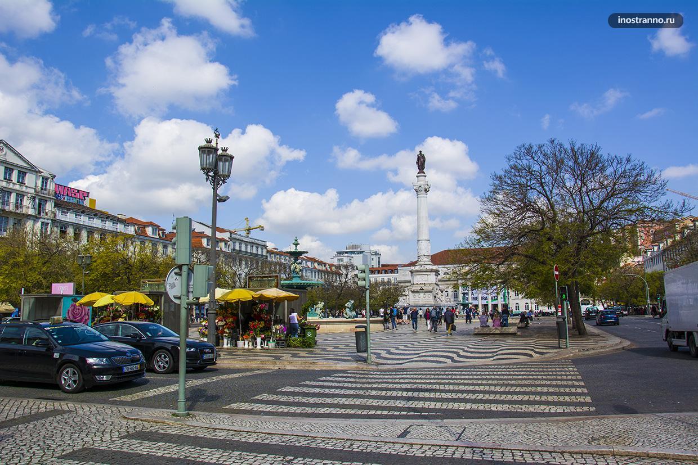 Площадь Росиу в Лиссабоне достопримечательность