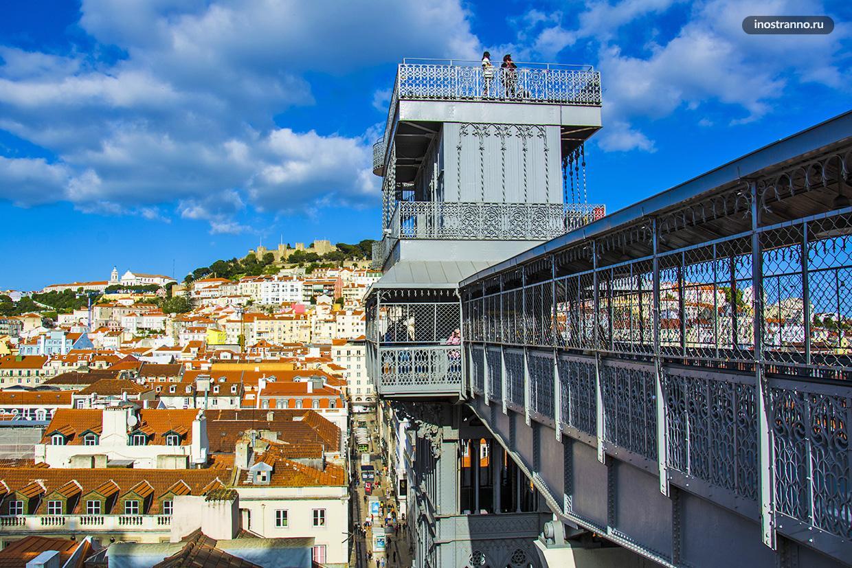 Лифт Санта Жушта со смотровой в Лиссабоне