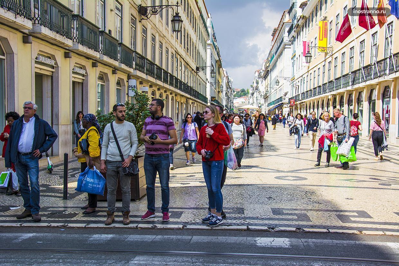 Торговая улица в Лиссабоне