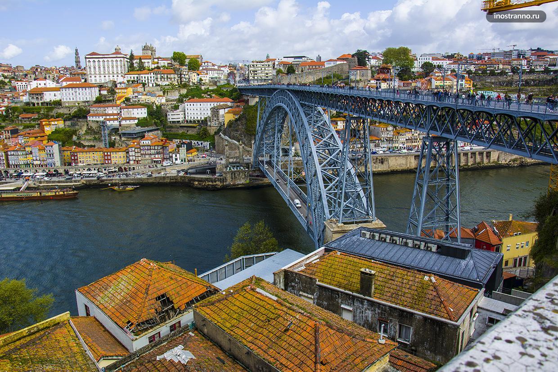 Достопримечательность Порто мост Понти-ди-Дон-Луиш I
