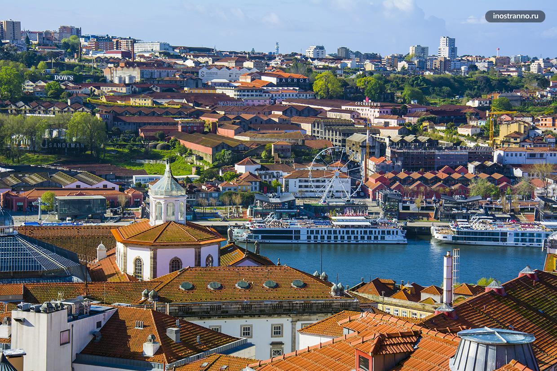 Панорама города Порто