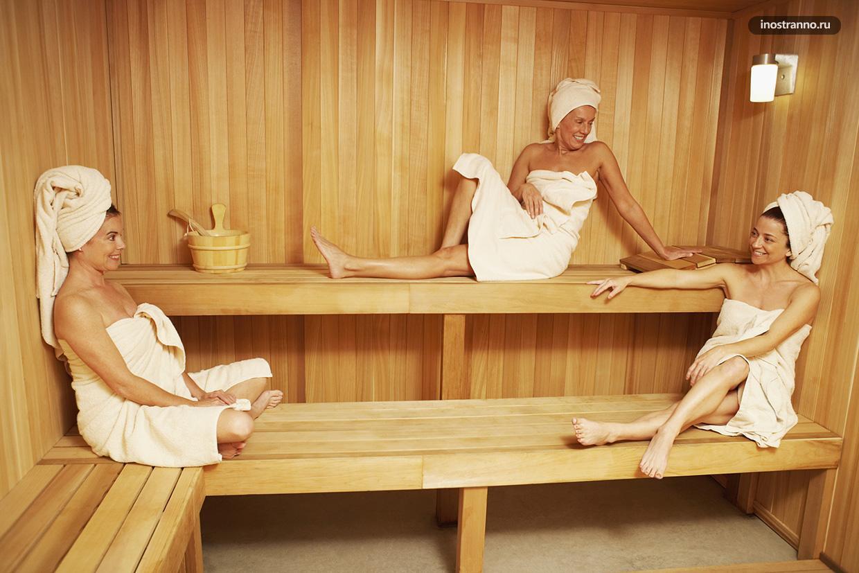 Девушки в чешской сауне