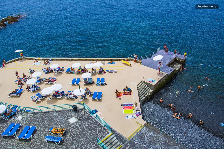 Praia da Barreirinha где покупаться в Фуншале на Мадейре