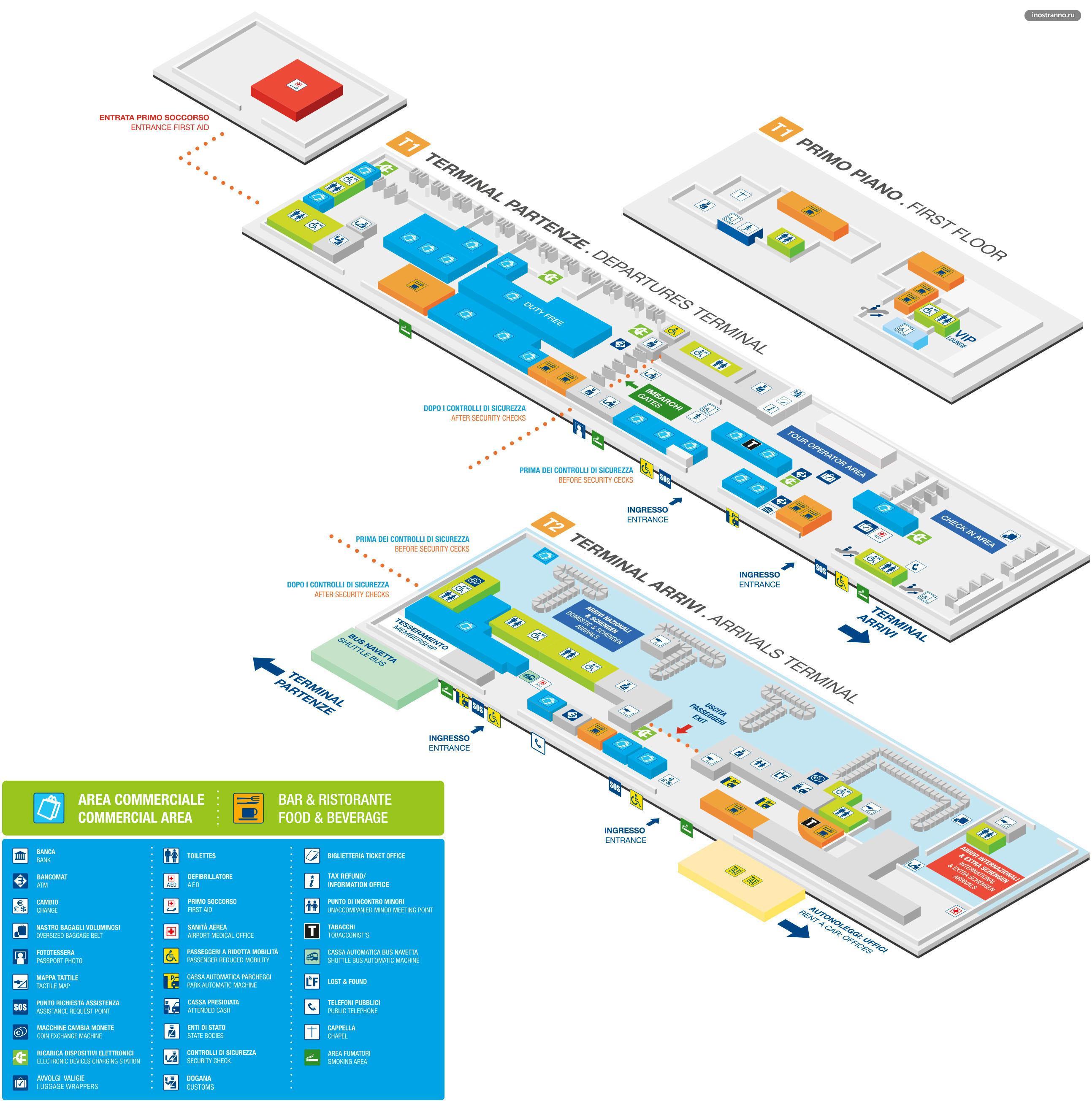 Аэропорт Верона карта схема терминала