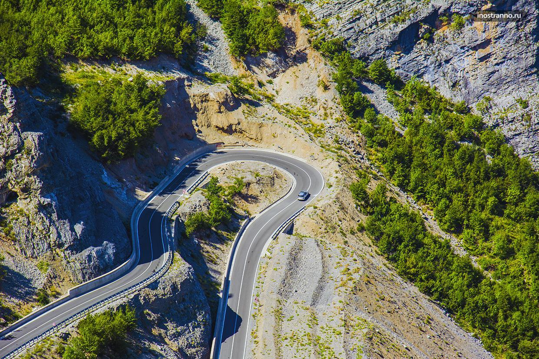 Горная дорога в Европе