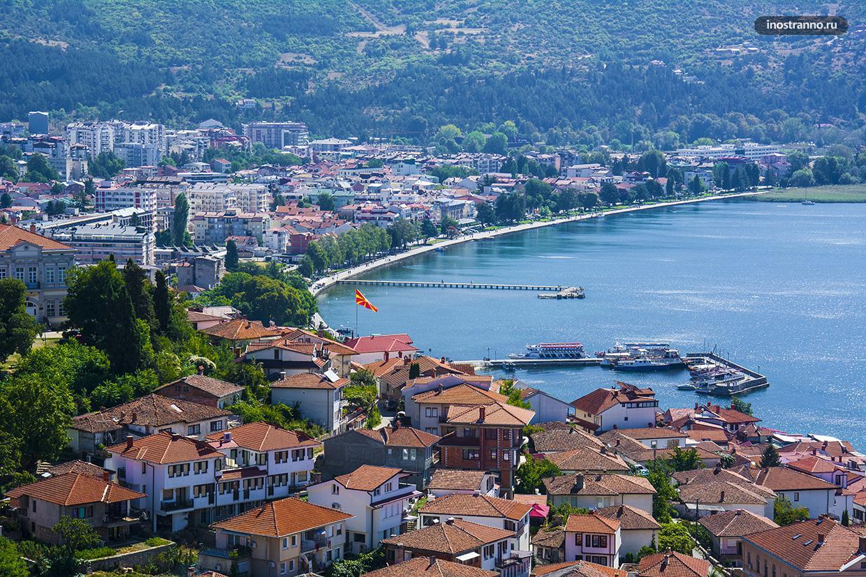 Панорама Охридского озера