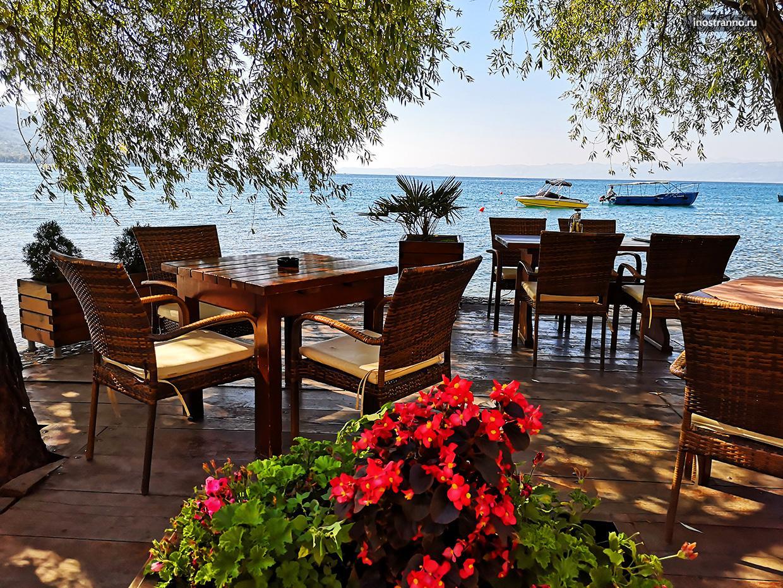 Ресторан у Охридского озера