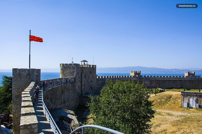 Стены крепости Самуила в Охриде