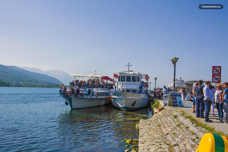 Кораблики на Охридском озере