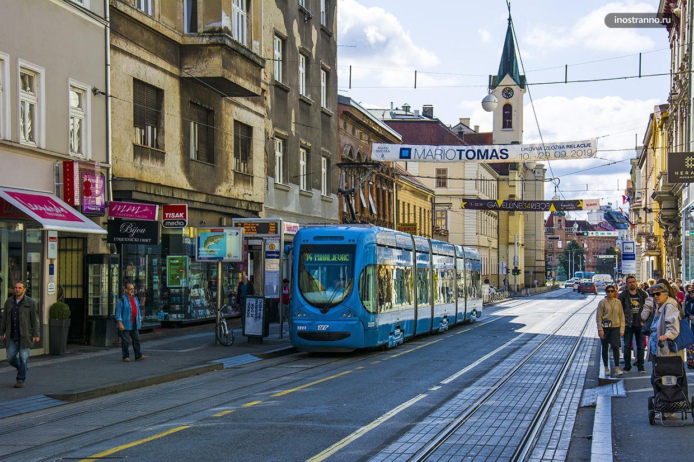 Трамвай в Загребе
